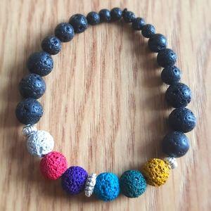 Custom chakra lava stone bracelets
